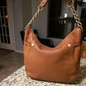 Micheal Kors Leather Shoulder Bag Acorn